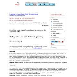 Ingeniare. Revista chilena de ingeniería - Desafíos para el profesorado en la sociedad del conocimiento
