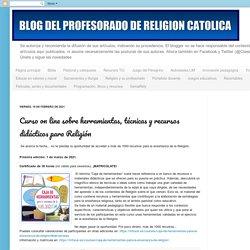 Curso on line sobre herramientas, técnicas y recursos didácticos para Religión