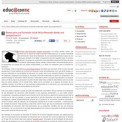 Bases para una formación inicial del profesorado desde una perspectiva 2.0