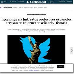 Redes Sociales: Lecciones vía tuit: estos profesores españoles arrasan en Internet enseñando Historia. Noticias de Tecnología