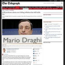 ECB professes alarm over falling inflation but still holds fire