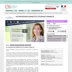 Du professeur connecté à l'étudiant connecté - Université Paris 1 Panthéon-Sorbonne