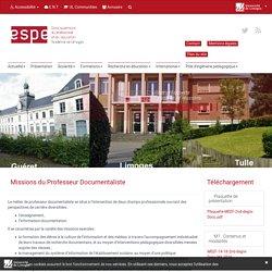 Parcours Professeur Documentaliste - ESPE de Limoges