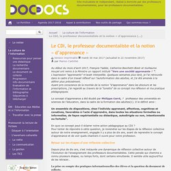 Apprenance et commun _Le CDI, le professeur documentaliste et la notion « d'apprenance »_Docpourdocs