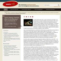 PEAC et professeurs-documentalistes : dossier Inter-CDI