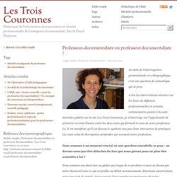 Professeur-documentaliste ou professeur documentaliste ?