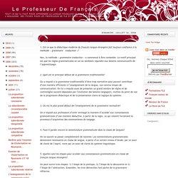 Le Professeur de Français: L'enseignement de la grammaire (quiz)