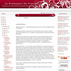 Le Professeur de Français: Eugène Ionesco, La Cantatrice chauve et La leçon , (notes de lecture)