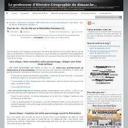 Le professeur d'Histoire-Géographie du dimanche… » Pour les 4e – Jeu de rôle sur la Révolution française (1)