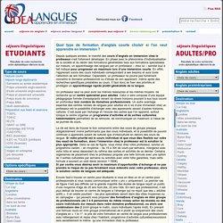 Partir en immersion pour un stage intensif d'anglais : chez le professeur ou en centre de langues pour adultes ? « Idéalangues