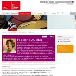 Fabienne AUTIER: professeur de Management, Droit et Ressources Humaines