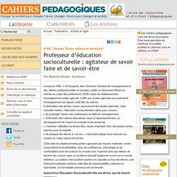 Professeur d'éducation socioculturelle : agitateur de savoir faire et de