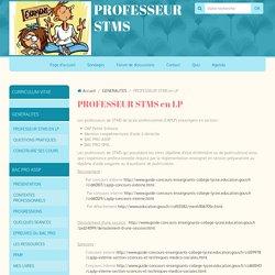 PROFESSEUR STMS en LP