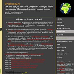 PROFESSEURS - Site de cours de collège et lycée en SVT