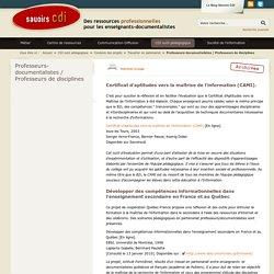Professeurs-documentalistes / Professeurs de disciplines