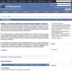 Collège : Le rôle des professeurs documentalistes rappelé à Toulouse