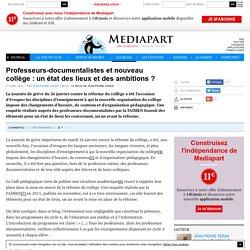 Professeurs-documentalistes et nouveau collège : un état des lieux et des ambitions ?