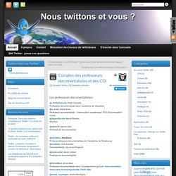 Twitter Comptes des profs docs et des CDI