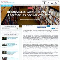 De nouvelles garanties pour les professeurs documentalistes