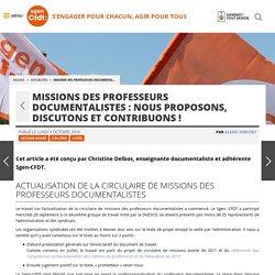 Missions des professeurs documentalistes : nous proposons, discutons et contribuons ! - Fédération Sgen-CFDT