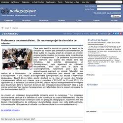 Professeurs documentalistes : Un nouveau projet de circulaire de mission