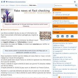Fake news et Fact checking- Les Enseignants Documentalistes de l'Académie de Poitiers
