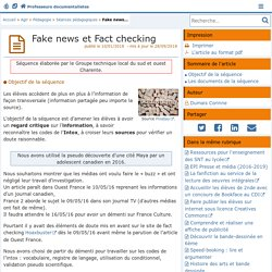 Fake news et Fact checking - Doc'Poitiers - Le site des professeurs documentalistes