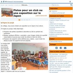 Pistes pour un club ou une exposition sur le Japon - Doc'Poitiers - Le site des professeurs documentalistes