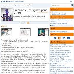 Un compte Instagram pour le CDI - Page 2/2 - Doc'Poitiers - Le site des professeurs documentalistes