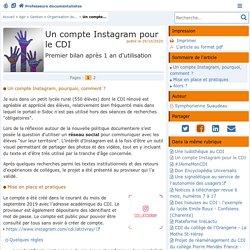 Un compte Instagram pour le CDI - Doc'Poitiers - Le site des professeurs documentalistes