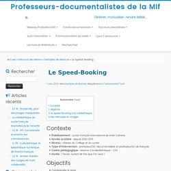 Le Speed-Booking – Professeurs-documentalistes de la Mlf
