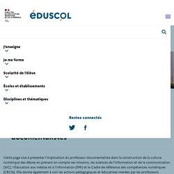 Culture numérique et professeurs documentalistes