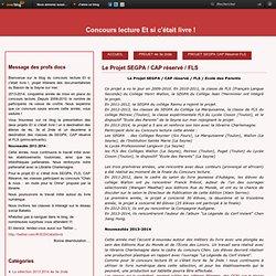 Le Projet SEGPA / CAP réservé / FLS