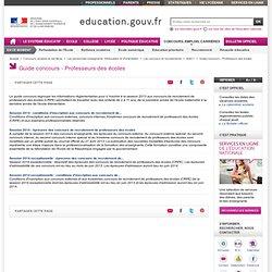 Guide SIAC Concours enseignants du premier degré - Épreuves du concours externe