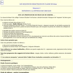 AVIS AUX PROFESSEURS DE FRANCAIS DE SIXIEME. . .