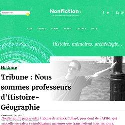 Tribune : Nous sommes professeurs d'Histoire-Géographie