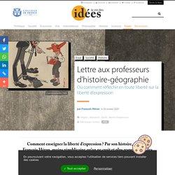Lettre aux professeurs d'histoire-géographie