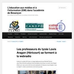 Les professeurs du lycée Louis Aragon (Héricourt) se forment à la webradio