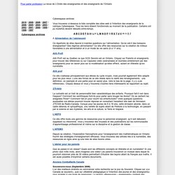 Pour parler profession : Cyberespace archives