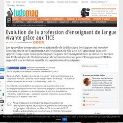 Evolution de la profession d'enseignant de langue vivante grâce aux TICE