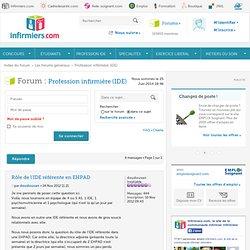 Rôle de l'IDE référente en EHPAD : Profession infirmière (IDE)