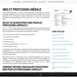 Profession libérale et kbis : quel est le lien ?