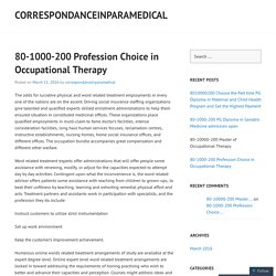 80-1000-200 Profession Choice in Occupational Therapy