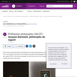 Profession philosophe (18/42) : Jacques Darriulat, philosophe du regard