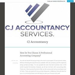 How Do You Choose A Professional Accounting Company? – CJ Accountancy