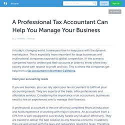 A Professional Tax Accountant Can Help You Manage Your Business