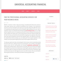 Find the professional accounting services for your business needs
