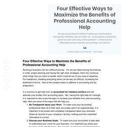 Four Effective Ways to Maximize the Benefits of Professional Accounting Help