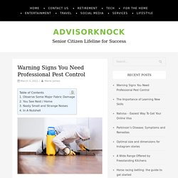Warning Signs You Need Professional Pest Control - AdvisorKnock