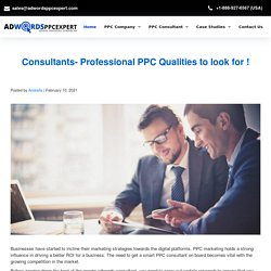 Consultants- Professional PPC Qualities to look for !